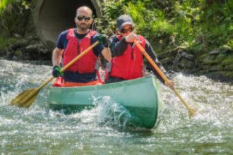 Cursus open-kanovaren op wild water