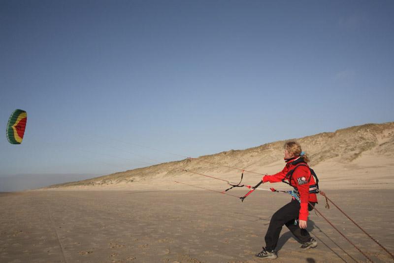 Trainen vooraf met de kites
