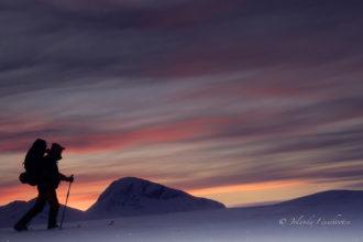 Ski-Foto-Trekking door de Poolnacht
